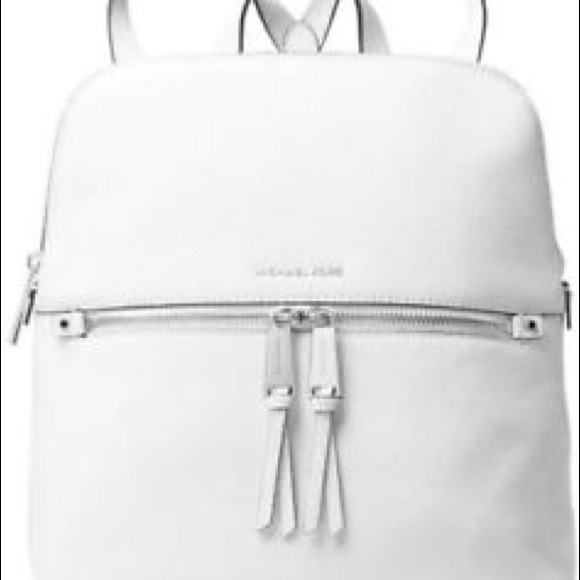 78415b879065 MICHAEL Michael Kors Bags | Michael Kors Rhea Medium Backpack White ...
